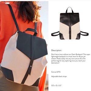 Deux Lux Canvas & Vegan Leather Backpack NEW! (C)